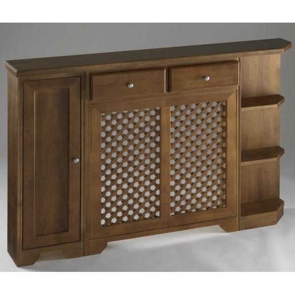 Cubreradiador cl sico con mueble auxiliar y mueble terminal for Mueble cubreradiador