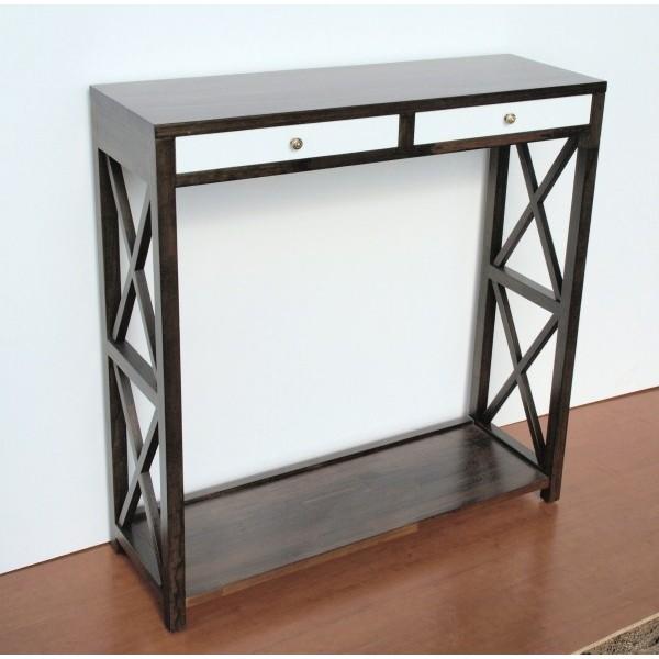 Mueble recibidor a medida , fabricado en madera maciza, con diseño de