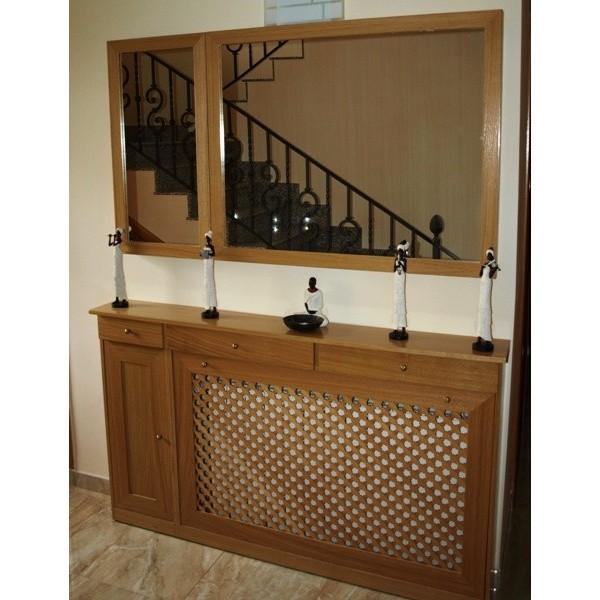 Cubreradiador cl sico con mueble auxiliar cajones y puerta - Cubreradiadores clasicos ...