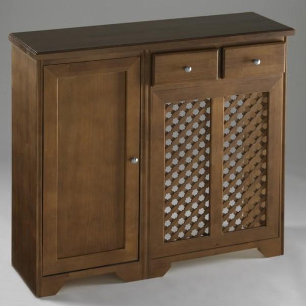 Cubreradiador cl sico con mueble auxiliar cajones y puerta for Mueble cubreradiador