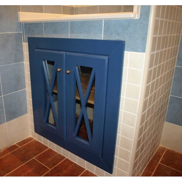 Puertas De Baño A Medida:de baño a medida, de diseño crucetas lacado en color azul, puertas