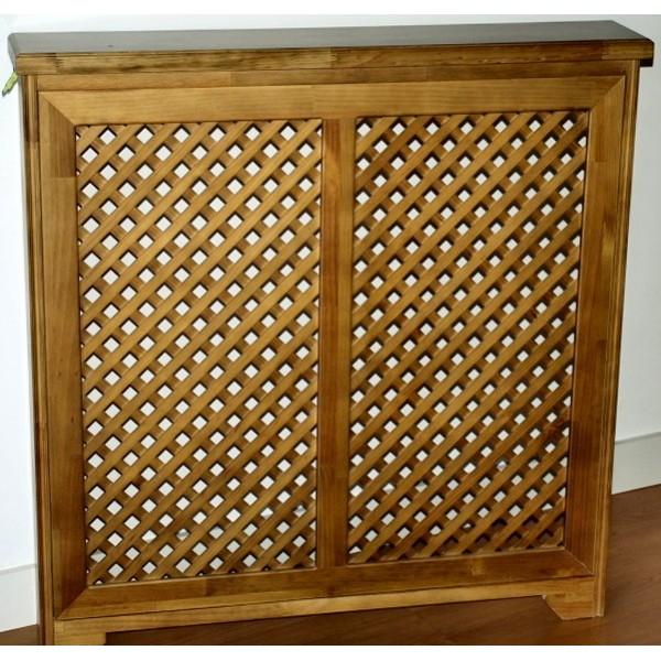 Cubreradiador cl sico madera maciza con celos a - Cubreradiadores clasicos ...
