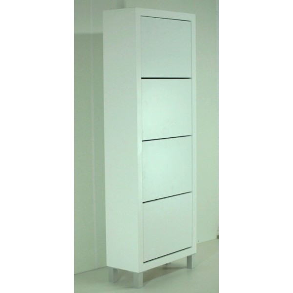 Mueble zapatero abatible for Zapatero lacado blanco