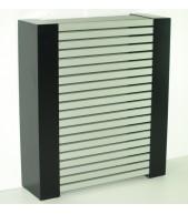 Cubreradiador mod. Aluminio, negro lacado.