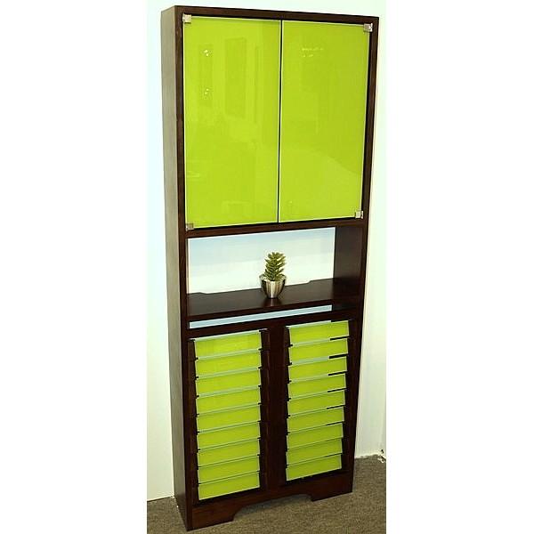 Cubreradiador con estanter a 2 puertas de cristal - Cubreradiadores de cristal ...