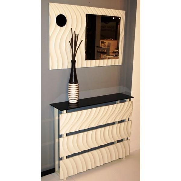 Cubreradiador moderno dise o de ondas - Muebles de entrada de diseno ...
